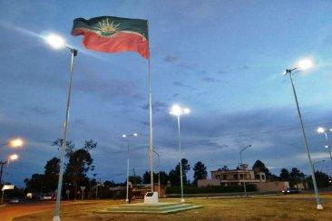 La bandera de Concordia con nuevas luces