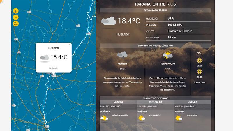 Cómo estará el tiempo este martes — Miramar y zona