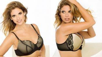 Alessandra Rampolla posó en ropa interior
