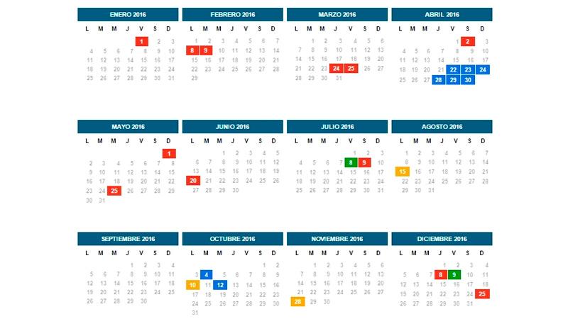 El cronograma completo de feriados para el a o pr ximo for Ministerio interior elecciones junio 2016