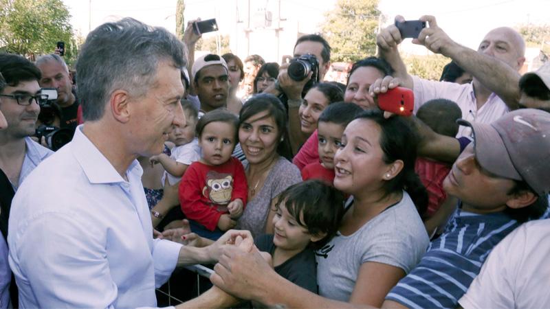 Macri durante su visita a La Paz, en 2016