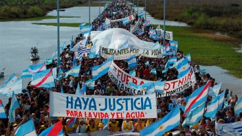 Tiene fecha la 15° Marcha al Puente Internacional San Martín contra las pasteras