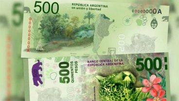 El billete de 500 pesos con la imagen del yaguareté fue premiado en España