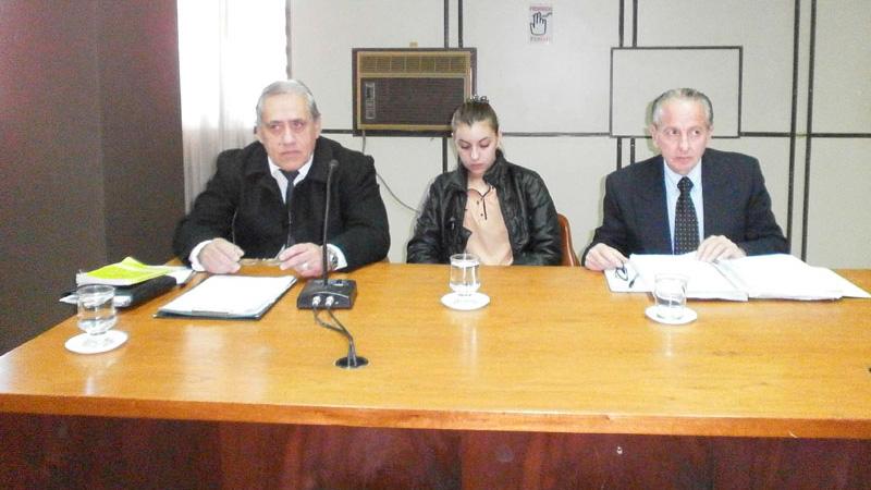 Paula Benitez durante el juicio