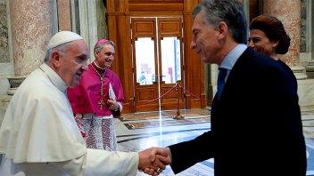 El Papa pidió a Macri una sociedad