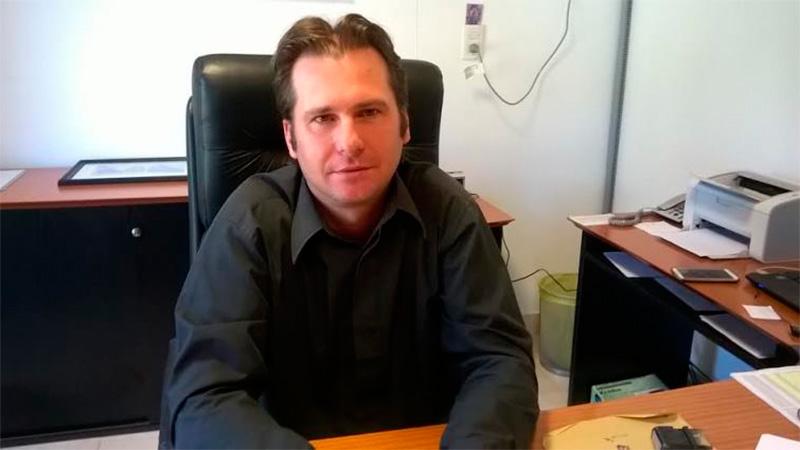 Claudio Baldezari, intendente de la localidad de Villa del Rosario