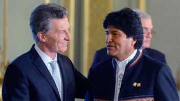 Macri recibe a Evo Morales este lunes