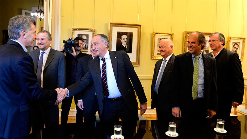 Industriales durante una reunión con Macri el año pasado