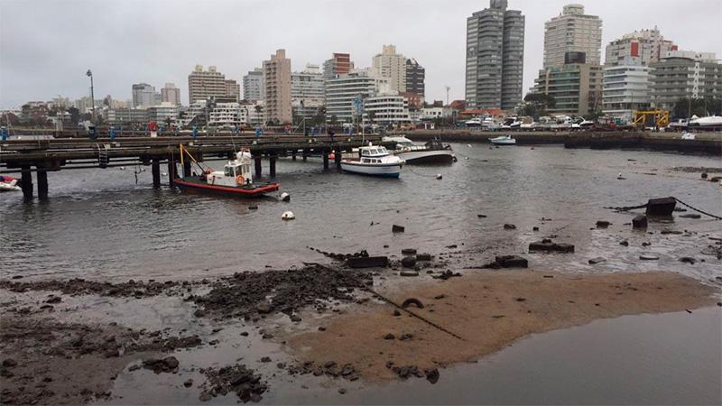 Bajante en Montevideo. (El Observador).-