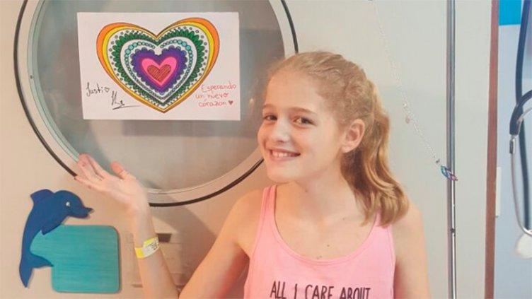 Triste noticia: Murió Justina, la niña que esperaba un corazón