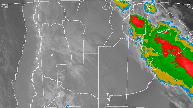Imagen de radar de las 5 de la mañana de este lunes