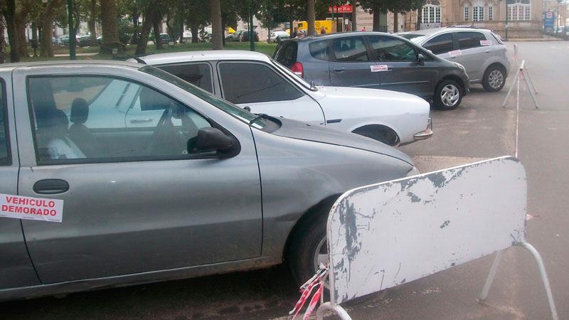 Numerosos automóviles secuestrados.
