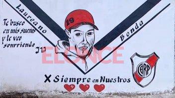 Pintaron un mural para recordar a joven que murió apuñalado por la espalda