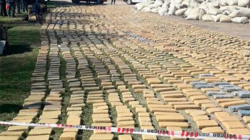Cargamento de marihuana incautado en la Ruta 127: Videos y fotos del operativo