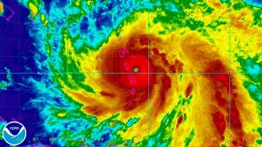 El huracán María azota Islas Vírgenes y se dirige con furia hacia Puerto Rico
