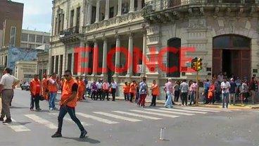 Municipales cortaron calles en el centro y hubo complicaciones para transitar