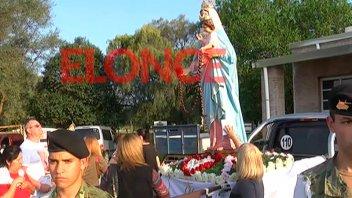 Hubo procesión, Misa y peña en honor a la Virgen del Rosario de San Nicolás