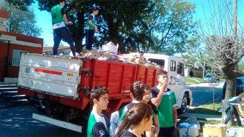 Escuela Luján recolectó más de 20 toneladas de papel y cartón para reciclar