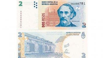 Adiós a los dos pesos: el billete se sumará a la colección de un numismático