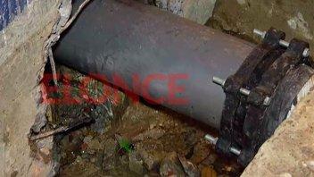 Culminaron trabajos de reparación de caño de agua: se restablece el servicio