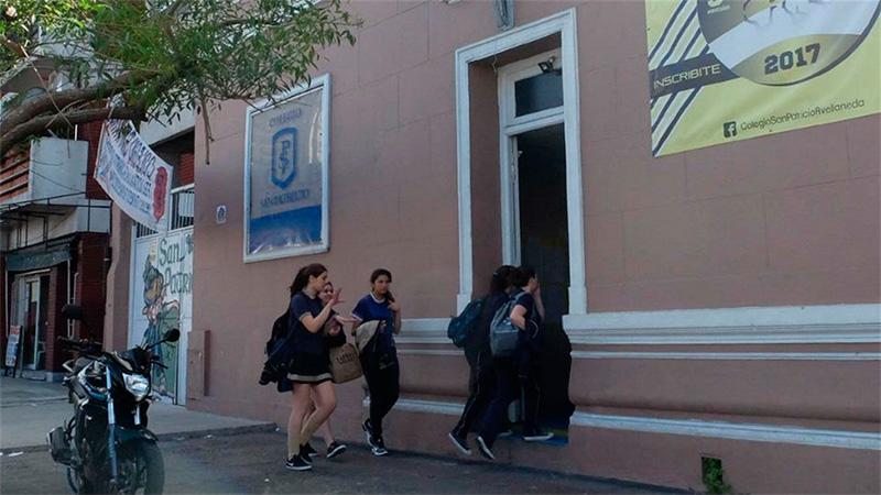 El colegio donde fueron robados 400 mil pesos.