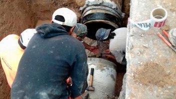 Reparación de un caño afecta el suministro de agua en un sector de la ciudad