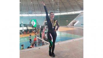 La paranaense Johana Miceli brilló en el Sudamericano de Gimnasia Aeróbica