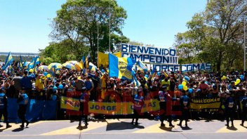 Boca llegó a Paraná: Los jugadores recibieron el cariño de los hinchas xeneizes
