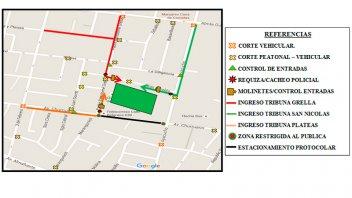 Operativos de seguridad: Los cortes de tránsito que habrá hoy en Paraná