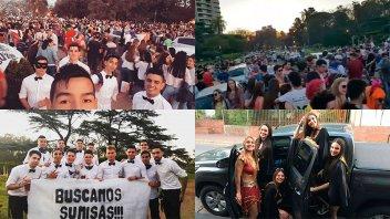Multitudinaria previa a la Fiesta de Disfraces en el Parque Urquiza de Paraná