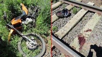 Dos motociclistas fueron hospitalizados tras violento despiste sobre las vías