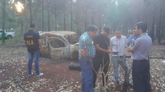 Hallaron una camioneta incendiada y sería de los concordienses desaparecidos