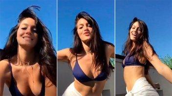 Oriana Sabatini lució sus curvas con un baile muy sexy
