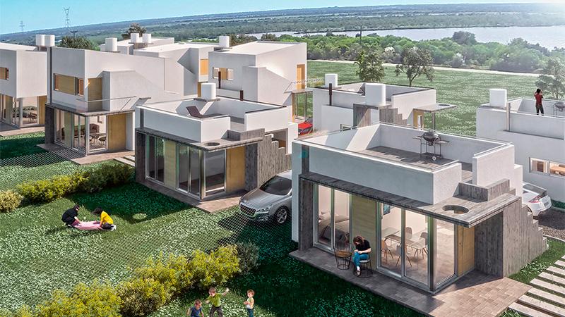 Ofrecen casas frente al r o en paran y con cuotas de 7 for Frentes de viviendas