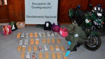 Tres mujeres detenidas por trasladar 45 kilos de marihuana en un colectivo