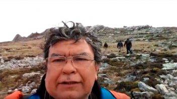Video: La emoción del veterano que regresó al lugar donde combatió en Malvinas