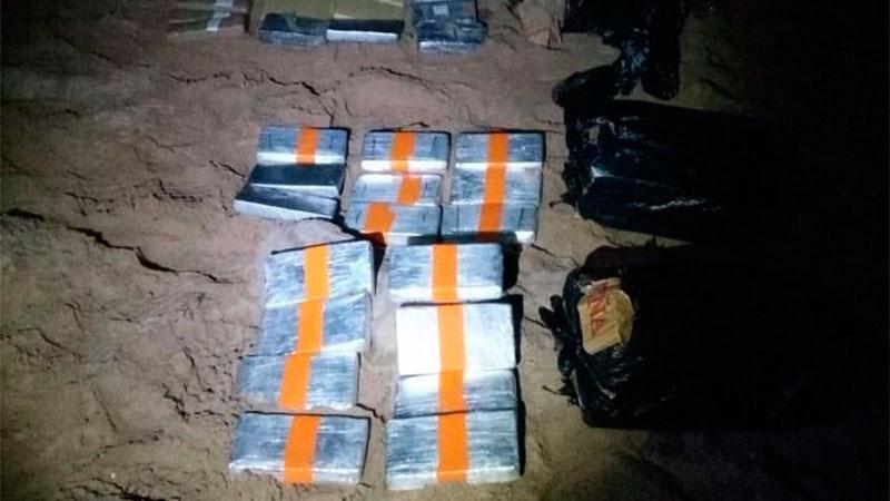 Evitan el ingreso de más de 30 kilogramos de cocaína