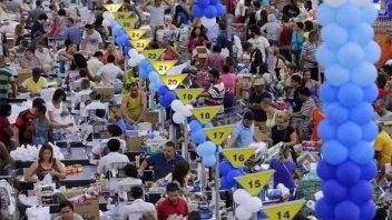 Colapsaron los súper de Río de Janeiro por las ofertas de