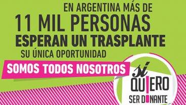 Este domingo también se podrá manifestar la intención de ser donante de órganos