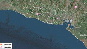 Temblores estremecen Costa de El Salvador en el Pacífico