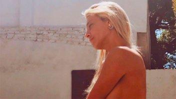 El topless de Sol Pérez para celebrar el domingo electoral