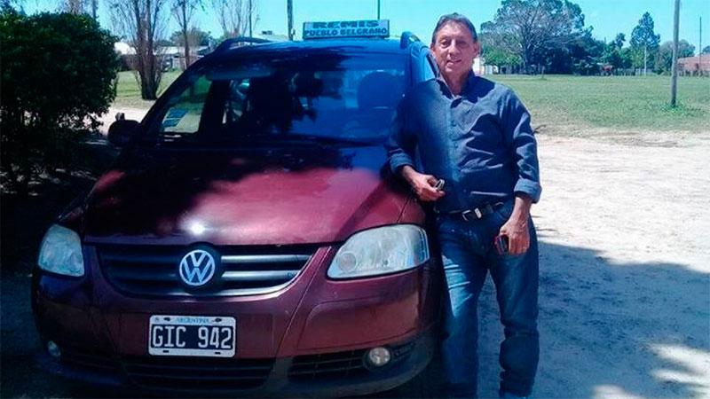 Juan Díaz trabajaba para un empresa de remis de Pueblo Belgrano