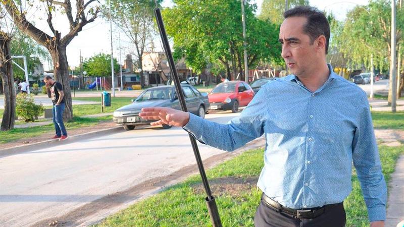 El Intendente de Morón, Ramiro Tagliaferro.