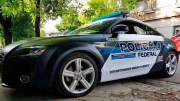 Un Audi TT recuperado del narcotráfico será patrullero de la Federal en Chajarí