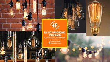 Electricidad Paraná tiene las últimas tendencias en iluminación Led y Vintage