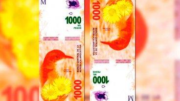 A partir de diciembre, comienzan a circular los billetes de 1000 pesos
