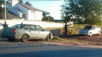 Un Alfa Romeo y un VW Passt chocaron de frente en Paraná