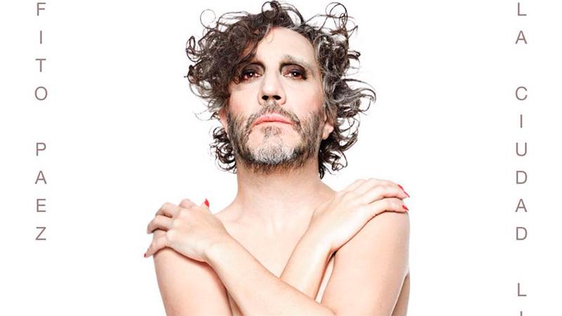 Controvertida imagen: Fito Páez maquillado y con cuerpo de mujer ...