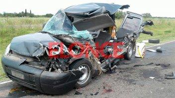 Impactantes fotos del choque frontal en Ruta 18: Identificaron a los dos heridos