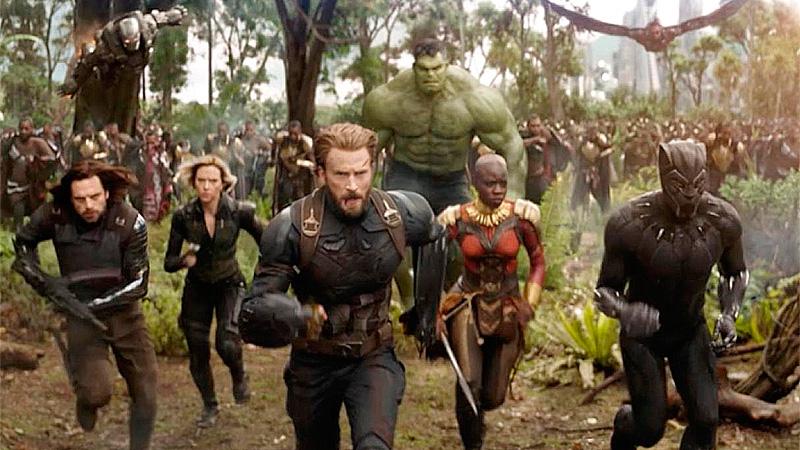 "Escenas del tráiler de de ""Avengers: Infinity War""."